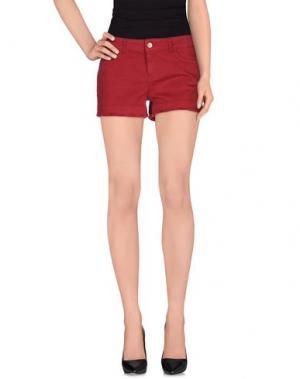 Джинсовые шорты JUCCA. Цвет: красно-коричневый