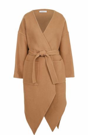 Пальто из смеси шерсти и кашемира с поясом J.W. Anderson. Цвет: бежевый