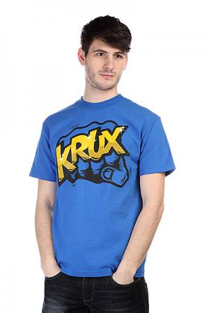 Футболка  Bum Rush Royal Blue Krux. Цвет: голубой
