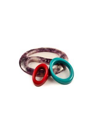 Пряжка Волшебная пуговица Овал инь-ян и кольцо для шарфа madam Пряжкина. Цвет: бирюзовый, темно-красный, темно-фиолетовый