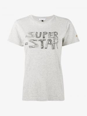 Футболка Super Star Bella Freud. Цвет: серый