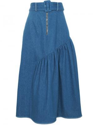 Джинсовая юбка Rejina Pyo. Цвет: синий