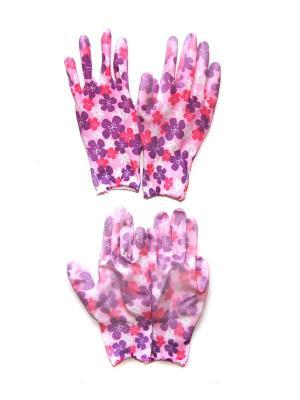 Садовые перчатки, 2 пары DiMi. Цвет: розовый