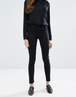Jack Wills Супероблегающие джинсы с классической талией Fernham. Цвет: черный