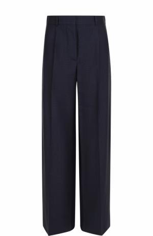 Широкие брюки с защипами и карманами Victoria Beckham. Цвет: синий