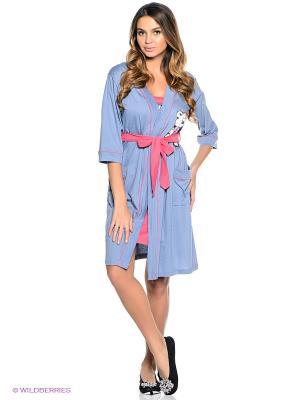 Комплект Vienetta Secret. Цвет: розовый, серо-голубой