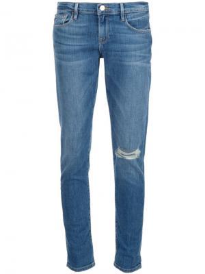 Эластичные джинсы Le Garçon Frame Denim. Цвет: синий
