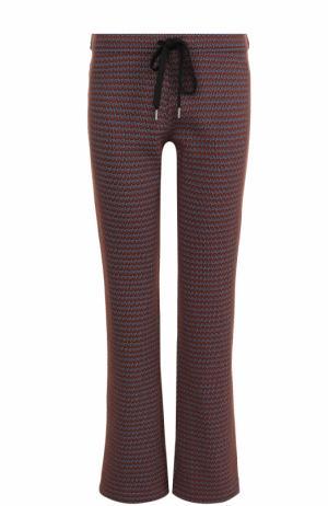 Шерстяные расклешенные брюки с принтом Marni. Цвет: разноцветный