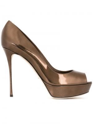 Туфли Alton Sergio Rossi. Цвет: коричневый