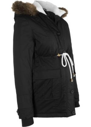 Зимняя куртка для беременных (черный) bonprix. Цвет: черный