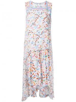 Плиссированное платье Peter Pilotto. Цвет: белый