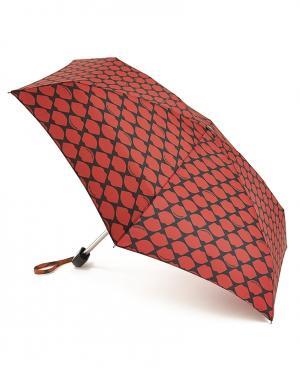Зонт механический Красные губы  by Fulton Lulu Guinness. Цвет: красный