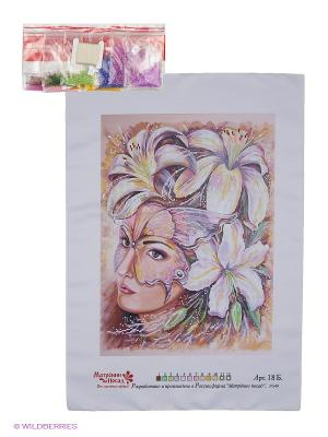 Набор для вышивания Таинственность Матренин Посад. Цвет: бледно-розовый, желтый, сиреневый