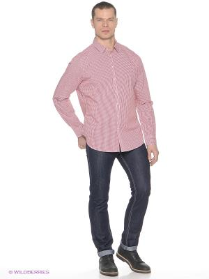 Рубашка SELA. Цвет: красный, белый