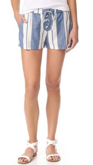 Шорты YFB Clothing Moby Young Fabulous & Broke. Цвет: синий/белый
