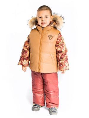 Костюм Руслан с утепленным жилетом Аксарт. Цвет: золотистый, коричневый, темно-коричневый