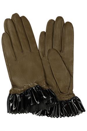 Перчатки Michel Katana. Цвет: оливковый, черный