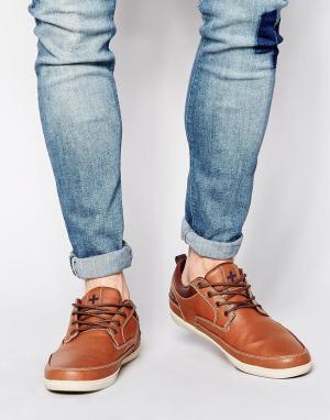 Ones + Twos Коричневые кроссовки со вставкой. Цвет: коричневый