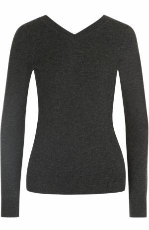 Облегающий пуловер с V-образным вырезом Isabel Marant Etoile. Цвет: темно-серый