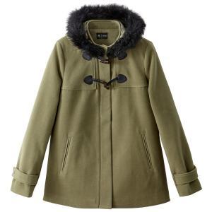 Короткое пальто с капюшоном La Redoute Collections. Цвет: хаки,черный