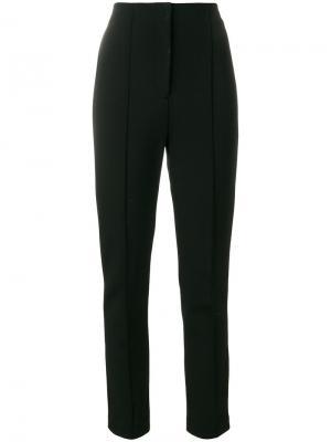 Прямые брюки с высокой талией Dvf Diane Von Furstenberg. Цвет: чёрный