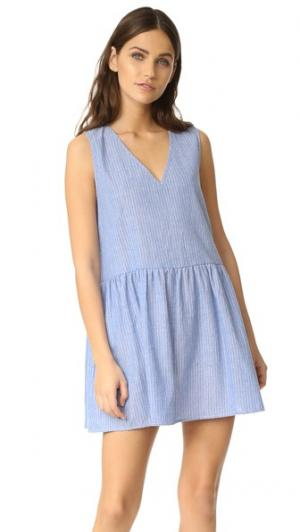 Воздушное платье Vale. Цвет: белый в тонкую синюю полоску