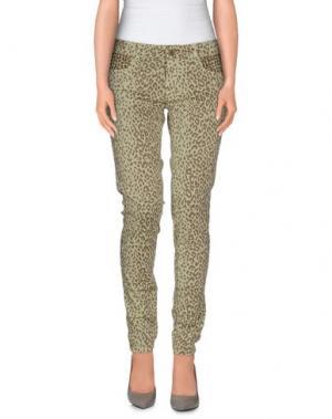 Повседневные брюки STUDS WAR. Цвет: светло-зеленый