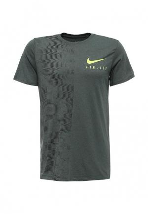 Футболка Nike. Цвет: хаки