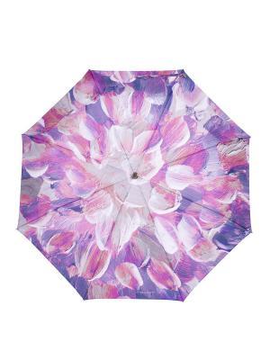 Зонт Slava Zaitsev. Цвет: серый, сиреневый