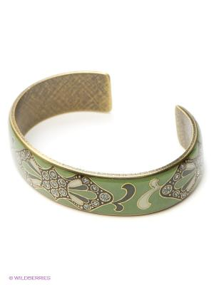 Браслет Clara Bijoux. Цвет: зеленый, бежевый