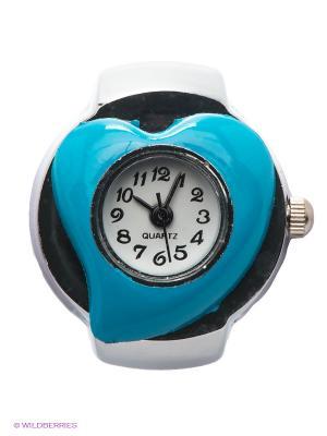 Часы-кольцо Heart (голубые) Kawaii Factory. Цвет: голубой