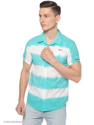 Рубашка Mezaguz. Цвет: бирюзовый