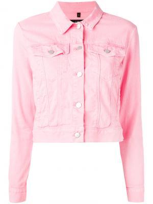 Укороченная джинсовая куртка J Brand. Цвет: розовый и фиолетовый