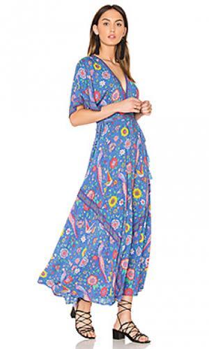 Вечернее платье half moon Spell & The Gypsy Collective. Цвет: синий