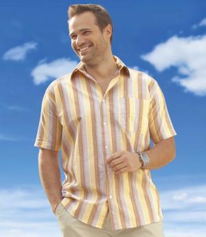 Рубашка из Хлопка AFM. Цвет: в-полоску
