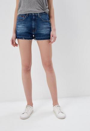 Шорты джинсовые Tommy Jeans. Цвет: синий
