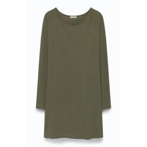 Платье свободное с вырезом-лодочкой SONOMA AMERICAN VINTAGE. Цвет: хаки