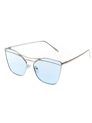 Солнцезащитные очки, iq format. Цвет: светло-голубой, серебристый