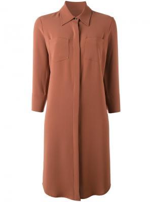 Платье-рубашка Alberto Biani. Цвет: коричневый