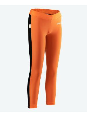 Тайтсы для фитнеса МИКИТА. Цвет: оранжевый, черный