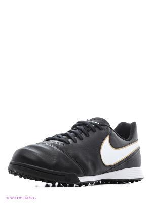 Шиповки JR TIEMPO LEGEND VI TF Nike. Цвет: черный
