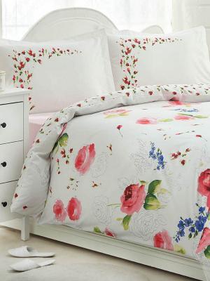 Комплект постельного белья Ozdilek. Цвет: белый, зеленый, голубой, розовый