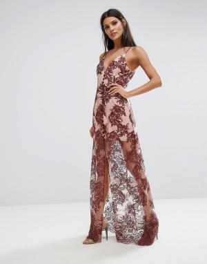 Finders Keepers Кружевное платье макси Spectral. Цвет: красный