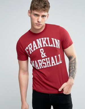 Franklin & Marshall Футболка с логотипом and. Цвет: красный