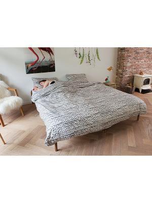 Комплект постельного белья Косичка серый 150х200см SNURK. Цвет: темно-серый