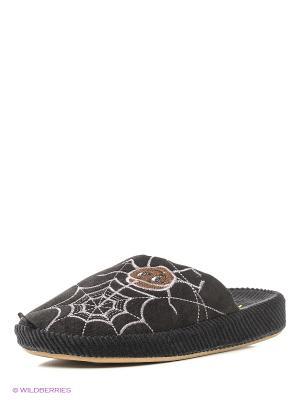 Тапочки детские Dream Feet. Цвет: черный