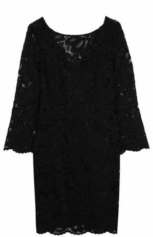 Приталенное кружевное платье с укороченным рукавом Tara Jarmon. Цвет: черный