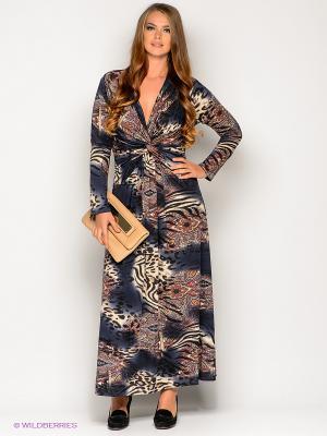 Платье МадаМ Т. Цвет: темно-синий, темно-красный, бежевый