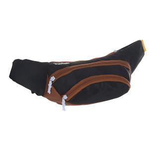 Сумка поясная  Wisst Bag F.bottom Black/Brown TrueSpin. Цвет: черный,коричневый