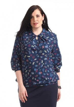 Блуза Averi. Цвет: синий